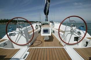 Deck einer Segelyacht