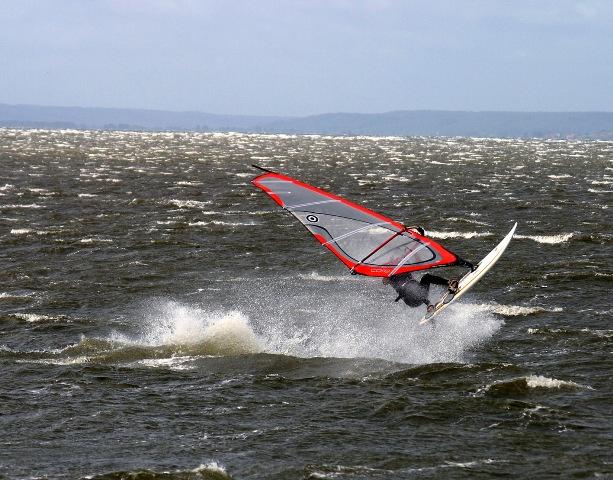 Surfbrett beim Winddurfing